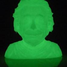 3D Printing-Albert Einstein Bust-PLA Filament Glow in the Dark