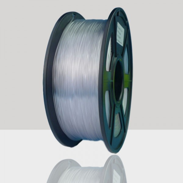 1.75mm PETG Filament Clear Color for 3D Printers, Rohs Compliance,1kg Spool, Dimensional Accuracy +/- 0.03 mm