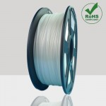 Glow in the Dark Silver White 3D Printing Filament 1.75mm for 3D Printers, Rohs Compliance,1kg Spool, Dimensional Accuracy +/- 0.03 mm