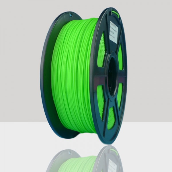 1.75mm PLA Filament Fluorescent Green for 3D Printers, Rohs Compliance,1kg Spool, Dimensional Accuracy +/- 0.03 mm