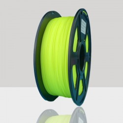 1.75mm PLA Filament Fluorescent Yellow for 3D Printers, Rohs Compliance,1kg Spool, Dimensional Accuracy +/- 0.03 mm