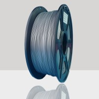 1.75mm PLA Filament Silver for 3D Printers, Rohs Compliance,1kg Spool, Dimensional Accuracy +/- 0.03 mm