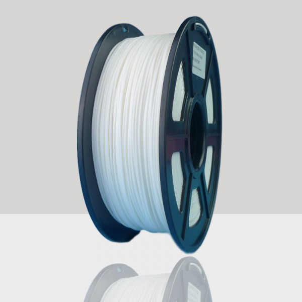 1.75mm TPU Flexible Filament White for 3D Printers, Rohs Compliance,1kg Spool