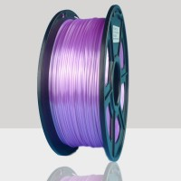 1.75mm Silk Like PLA Filament Purple for 3D Printers, Rohs Compliance,1kg Spool, Dimensional Accuracy +/- 0.03 mm