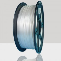 1.75mm Silk Like PLA Filament White for 3D Printers, Rohs Compliance,1kg Spool, Dimensional Accuracy +/- 0.03 mm