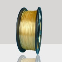 1.75mm Silk Like PLA Filament Yellow for 3D Printers, Rohs Compliance,1kg Spool, Dimensional Accuracy +/- 0.03 mm