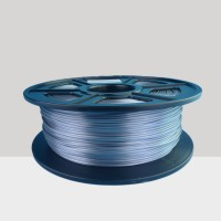 1.75mm Silk Like PLA Filament Silver for 3D Printers, Rohs Compliance,1kg Spool, Dimensional Accuracy +/- 0.03 mm